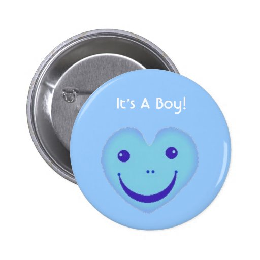 happyblueface, It's A Boy! Pinback Buttons