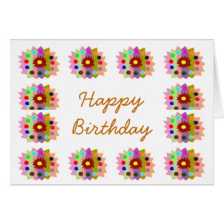 HappyDance Flower : HappyBirthday Happy Birthday Card