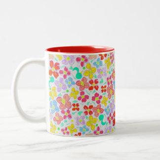 HAPPYFLOWER magnet Two-Tone Coffee Mug