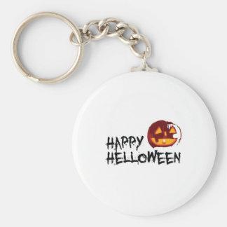 Happyhalloween Basic Round Button Keychain