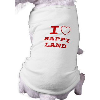HAPPYLAND I heart (love) Pet Clothing
