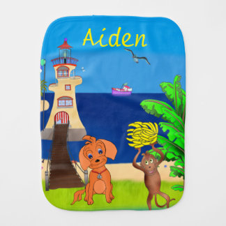 Happy's Lighthouse by The Happy Juul Company Burp Cloth