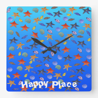 Happy's Lighthouse by The Happy Juul Company Square Wall Clock
