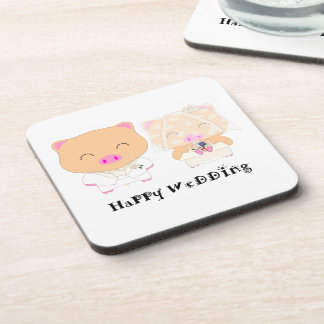 HappyWedding Drink Coaster