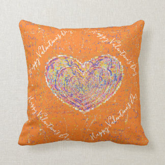 Hapy Valentine's Day Throw Pillow