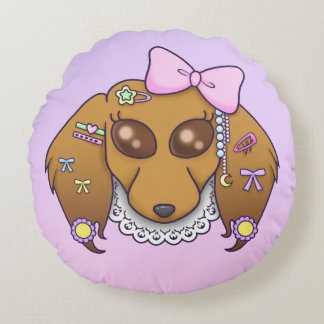 Harajuku Lolita Weenie Round Pillow