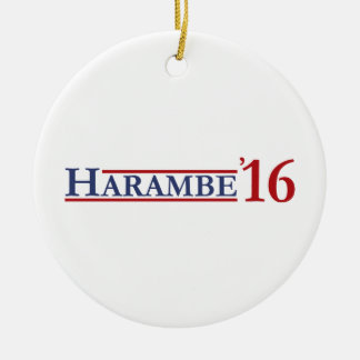Harambe 16 ceramic ornament