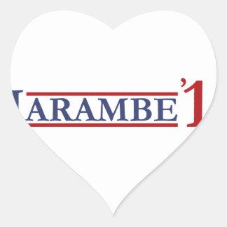 Harambe 16 heart sticker