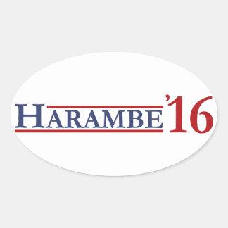 Harambe 16 oval sticker
