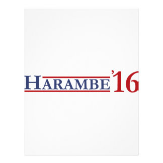 Harambe 16 personalized letterhead