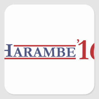 Harambe 16 square sticker