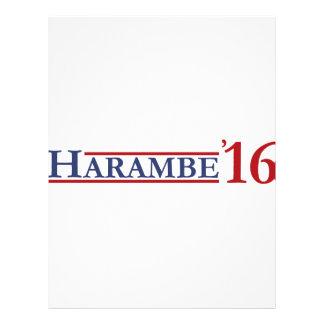 Harambe 2016 custom letterhead