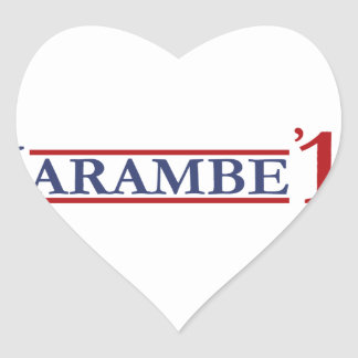 Harambe 2016 heart sticker