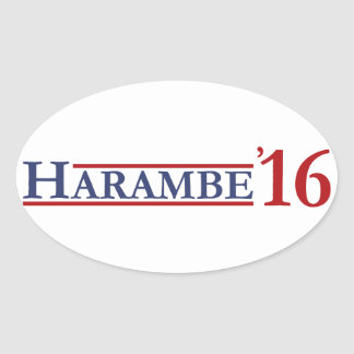 Harambe 2016 oval sticker