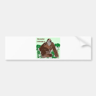 Harambe Bumper Sticker