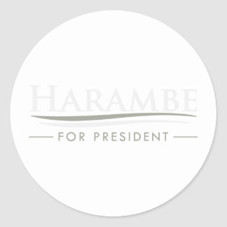 Harambe For President Classic Round Sticker