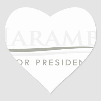 Harambe For President Heart Sticker