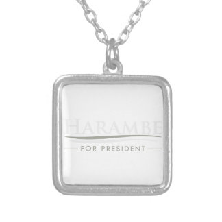 Harambe For President Silver Plated Necklace