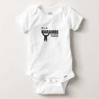 Harambe-Gibbon Monkey Baby Onesie