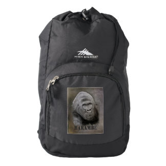 Harambe (Graphite Drawing) Backpack