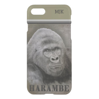 Harambe (Graphite Drawing) iPhone 8/7 Case