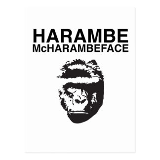 Harambe McHarambeface Postcard