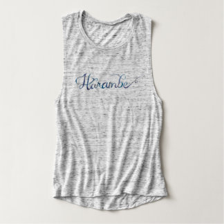 Harambe Name Watercolor Women's Muscle Tank