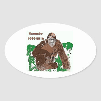 Harambe Oval Sticker
