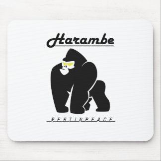 HARAMBE REST IN PEACE T-SHIRT MOUSE PAD