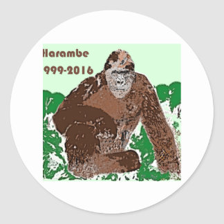 Harambe Round Sticker