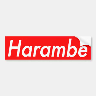 Harambe sticker bumper sticker