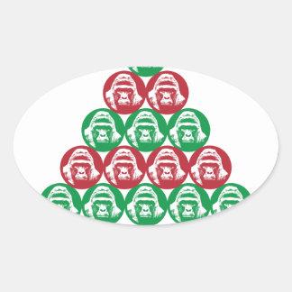 Harambe Tree Oval Sticker
