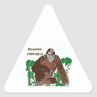 Harambe Triangle Sticker