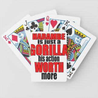 harambe worth gorilla legend harambeisjustagorilla bicycle playing cards
