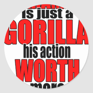 harambe worth gorilla legend harambeisjustagorilla classic round sticker