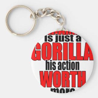 harambe worth gorilla legend harambeisjustagorilla keychain