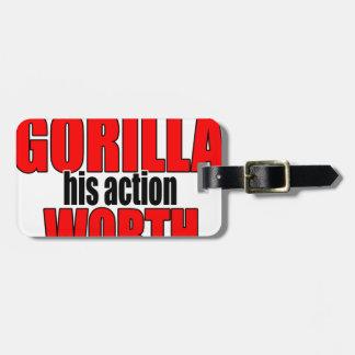 harambe worth gorilla legend harambeisjustagorilla luggage tag