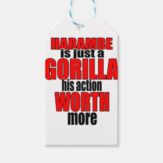 harambe worth gorilla legend harambeisjustagorilla pack of gift tags