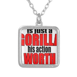 harambe worth gorilla legend harambeisjustagorilla silver plated necklace