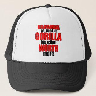 harambe worth gorilla legend harambeisjustagorilla trucker hat