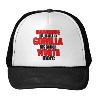 harambe worth gorilla legend harambeisjustagorilla trucker hat