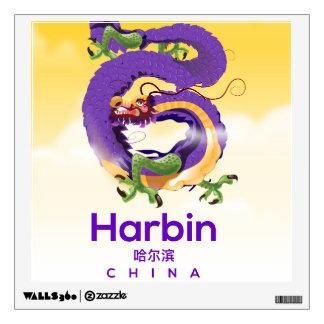 Harbin China Dragon travel poster Wall Decal