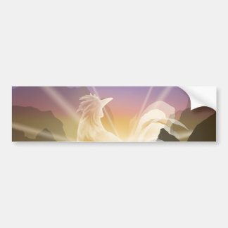 Harbinger of Light - Sunrise Rooster Bumper Sticker