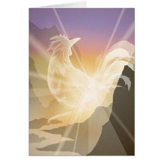 Harbinger of Light - Sunrise Rooster Card