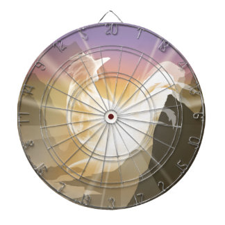 Harbinger of Light - Sunrise Rooster Dartboard