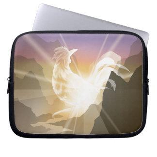 Harbinger of Light - Sunrise Rooster Laptop Sleeve