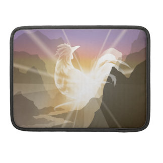 Harbinger of Light - Sunrise Rooster MacBook Pro Sleeve