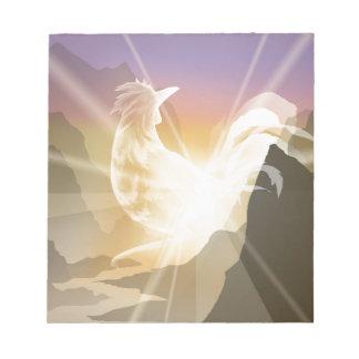 Harbinger of Light - Sunrise Rooster Notepad