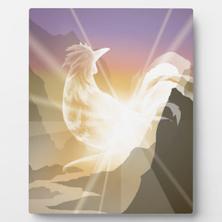 Harbinger of Light - Sunrise Rooster Plaque