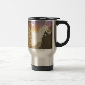 Harbinger of Light - Sunrise Rooster Travel Mug